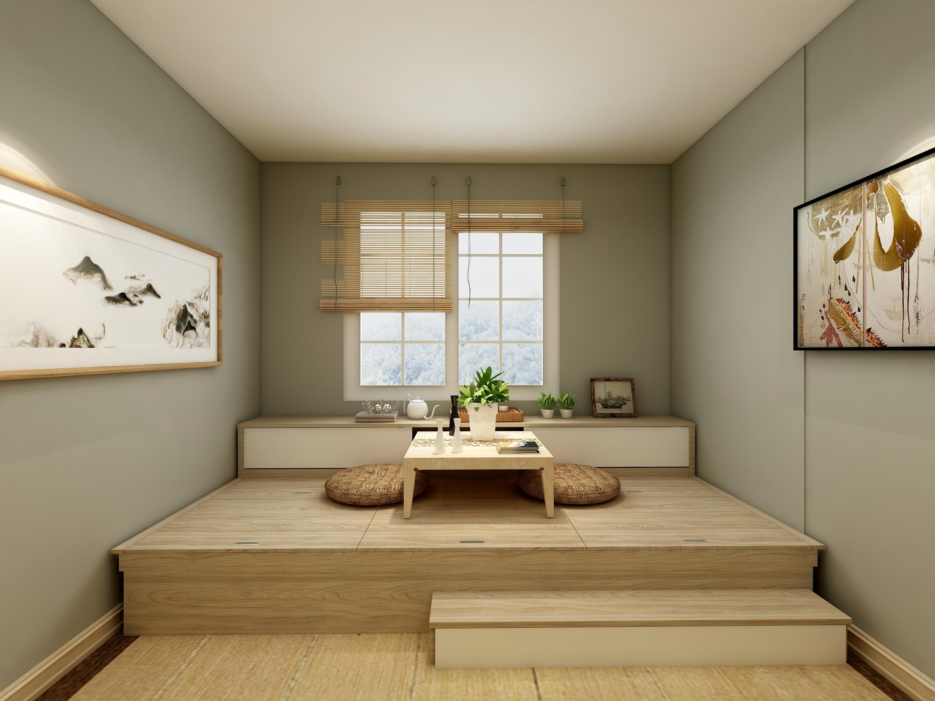 盛紫中央公园112.5平日式装修方案